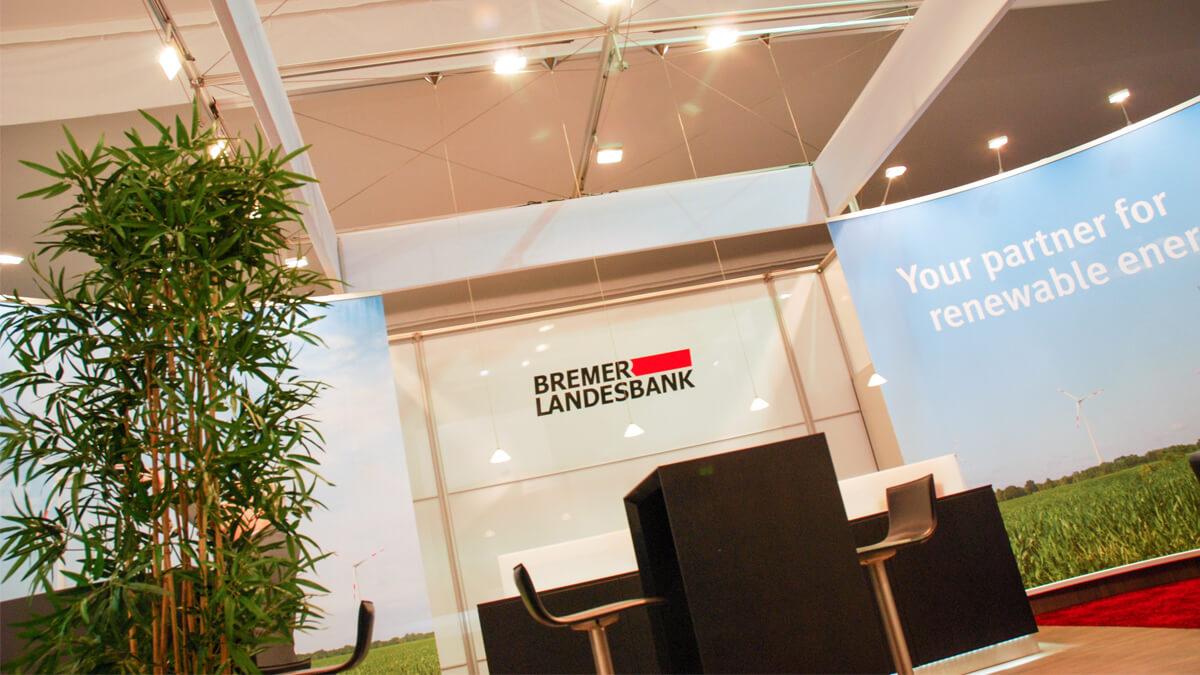 Anka Werbung - Messebau Bremen - Messebau - Lichtanlage (BLB Windenergie)