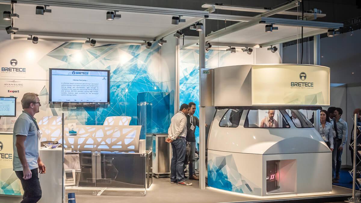 Anka Werbung - Messebau Bremen - Messebau - Individuelle Messearchitektur (Exxpert Space Tech Expo)