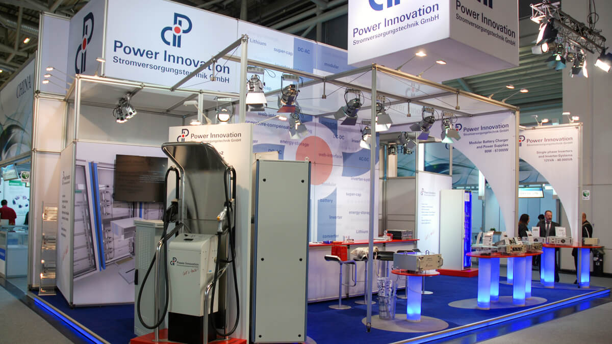 Anka Werbung - Messebau Bremen - Messebau - Individualstand (PowerInnovation Electronica)