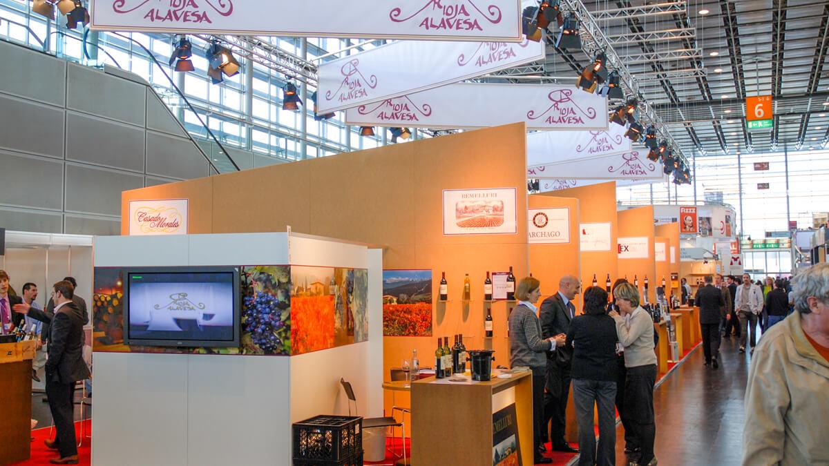 Anka Werbung - Messebau Bremen - Messebau - Displaywand (Rioja Alavesa ProWein)