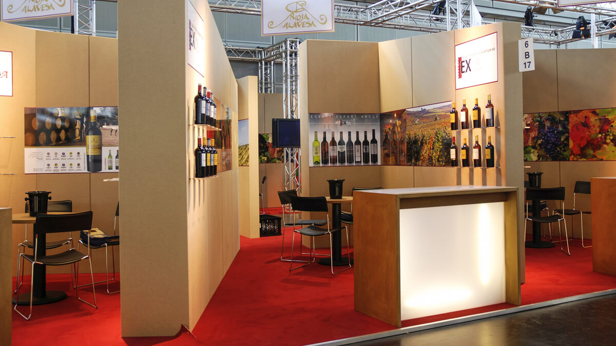 Anka Werbung - Messebau Bremen - Messebau - Standsektion (Rioja Alavesa ProWein)
