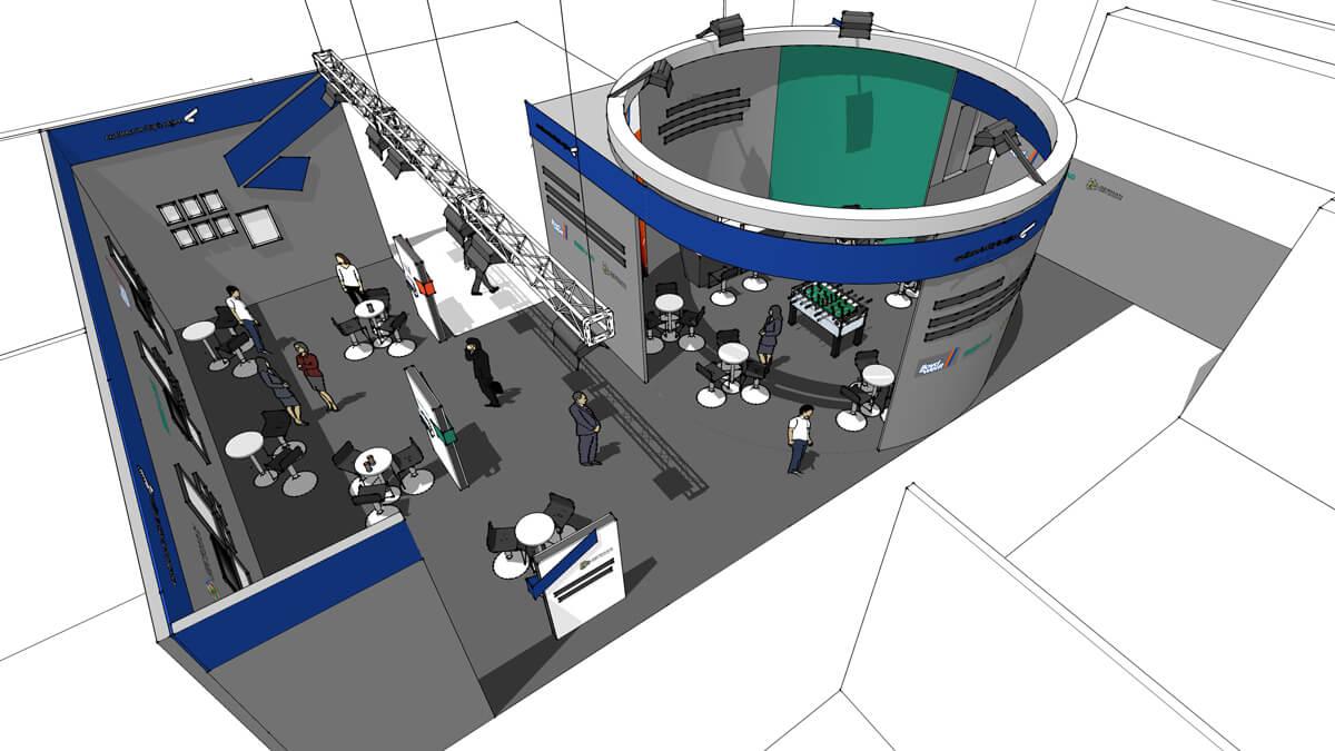 Anka Werbung - Messebau Bremen - Messebau - Visualisierung (SMM 2014)