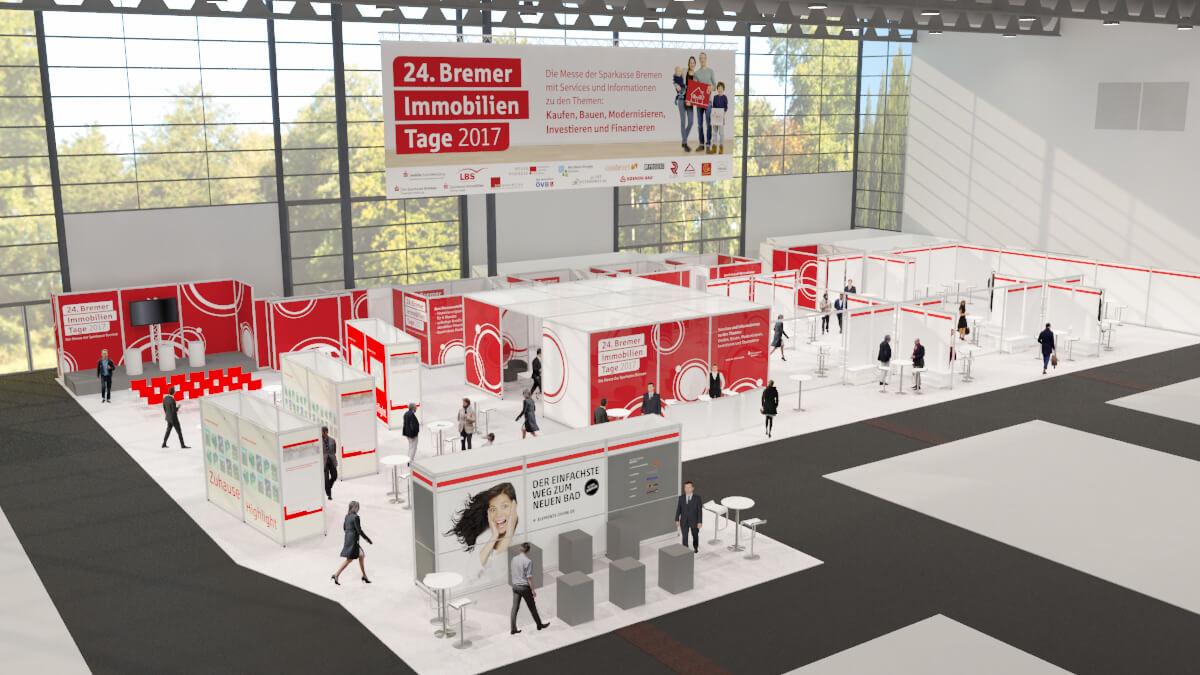 Anka Werbung - Messebau Bremen - Standdesign (Sparkasse Bremer Immobilientage 2017)