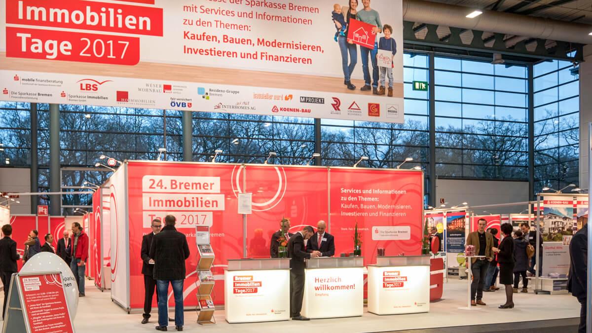 Anka Werbung - Messebau Bremen - Messestand (Sparkasse Bremer Immobilientage 2017)