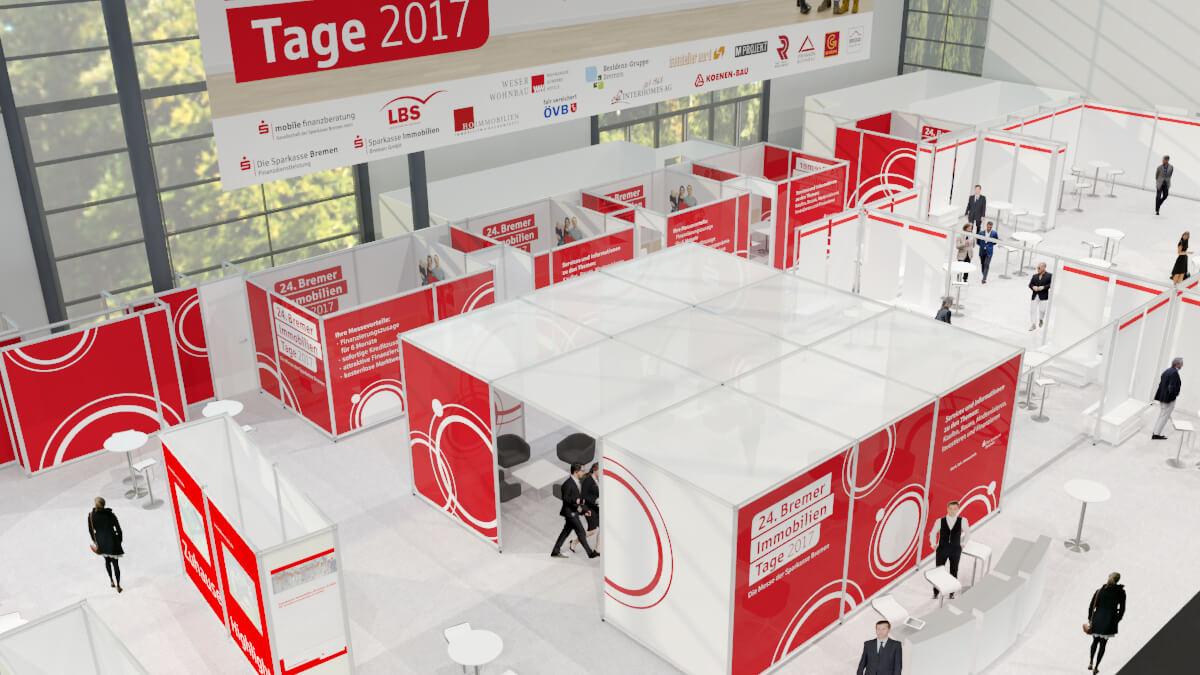 Anka Werbung - Messebau Bremen - Visualisierung (Sparkasse Bremer Immobilientage 2017)