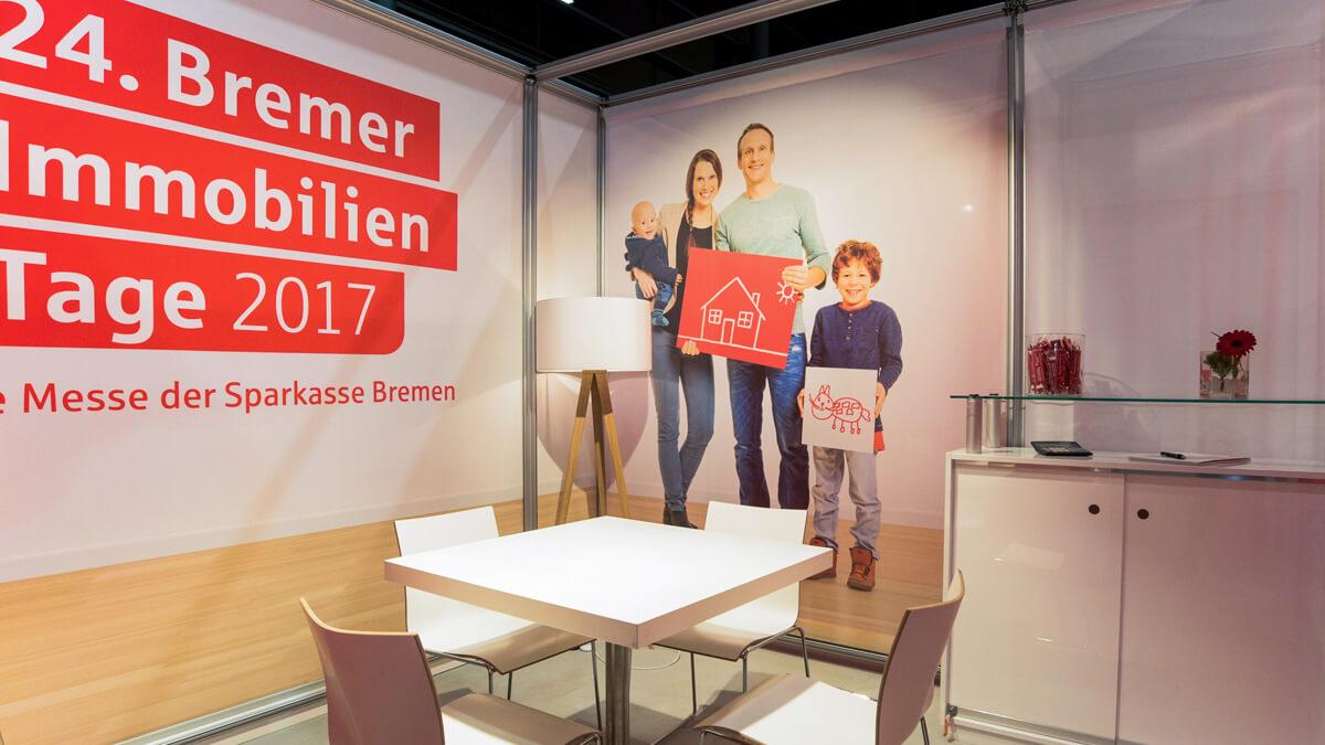 Anka Werbung - Messebau Bremen - Cube Sektion (Sparkasse Bremer Immobilientage 2017)