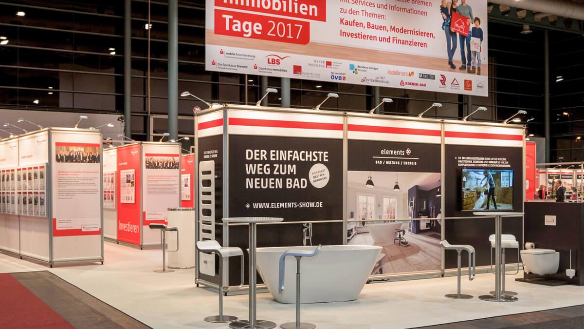 Anka Werbung - Messebau Bremen - Individualstand (Sparkasse Bremer Immobilientage 2017)