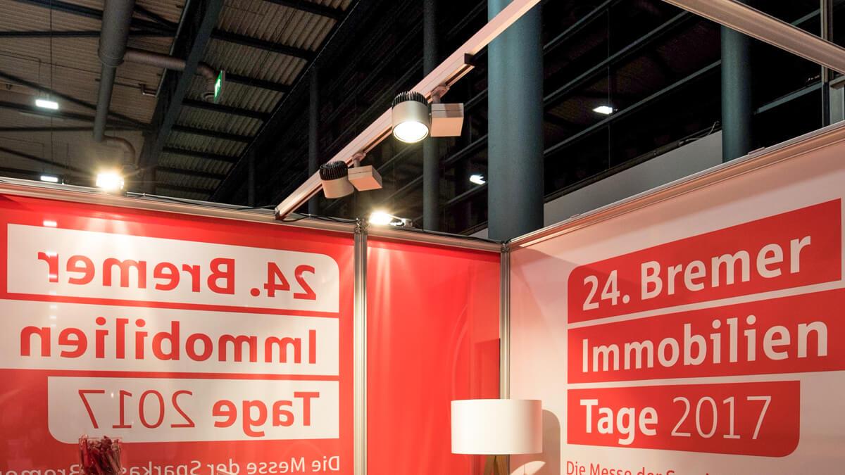 Anka Werbung - Messebau Bremen - Beleuchtung (Sparkasse Bremer Immobilientage 2017)