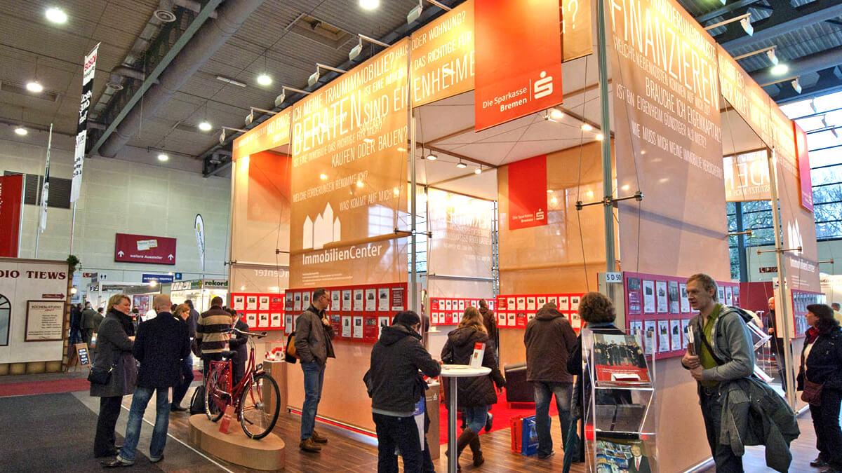 Anka Werbung - Messebau Bremen - Messebau - Messestand (Sparkasse HanseBau)