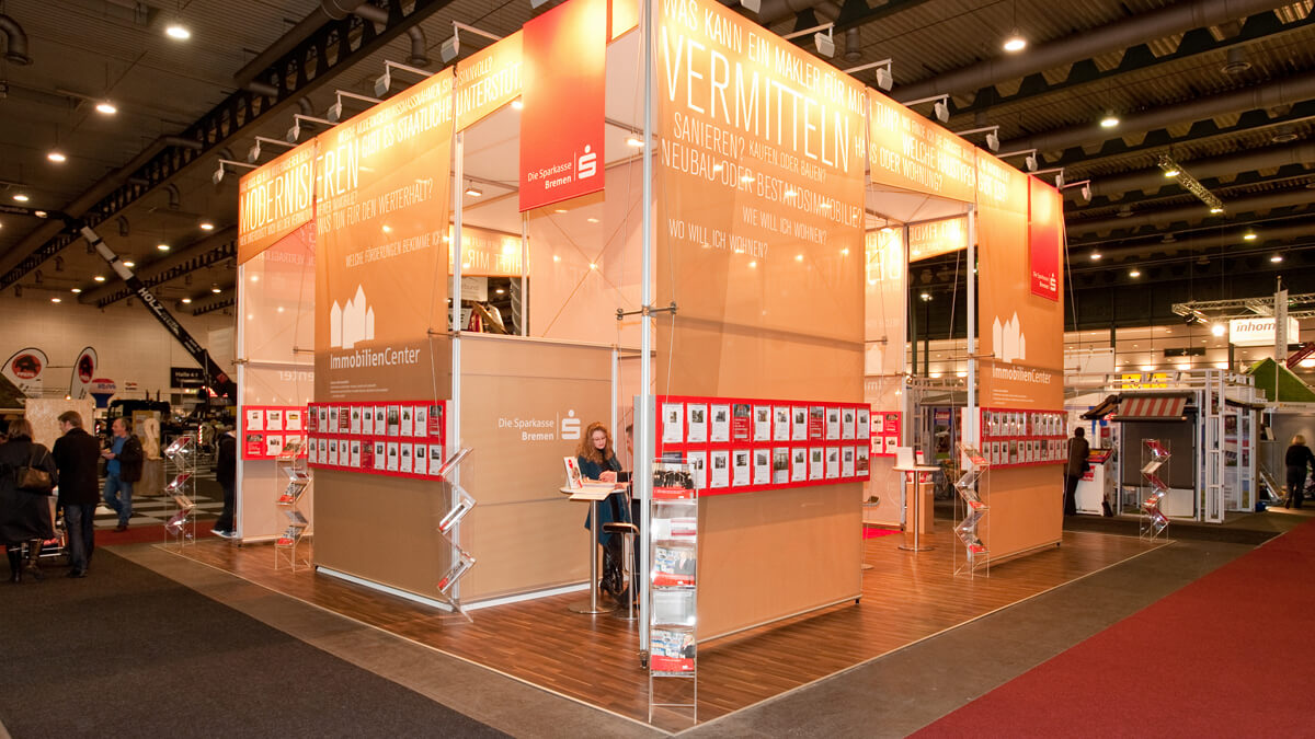 Anka Werbung - Messebau Bremen - Messebau - Individualstand (Sparkasse HanseBau)