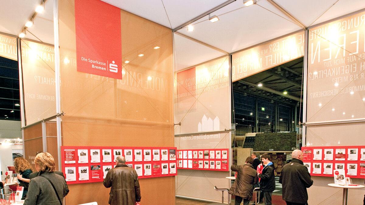 Anka Werbung - Messebau Bremen - Messebau - Individueller Messestandbau (Sparkasse HanseBau)