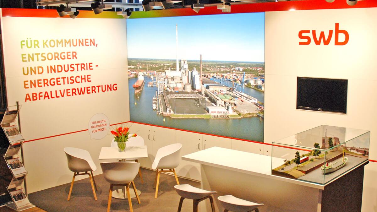 Anka Werbung - Messebau Bremen - Messebau - Standdesign (swb Bioenergieforum)