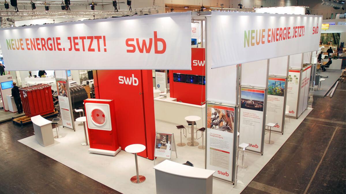 Anka Werbung - Messebau Bremen - Messebau - Messestand (swb eWorld)
