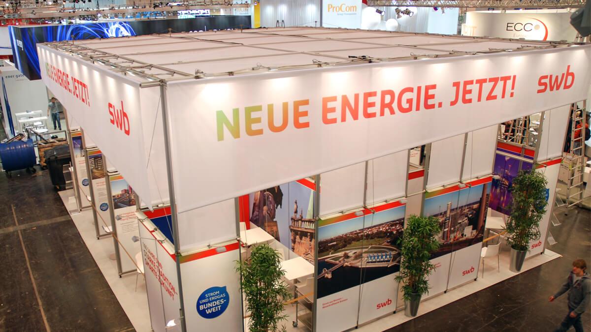 Anka Werbung - Messebau Bremen - Messebau - Blende (swb eWorld)