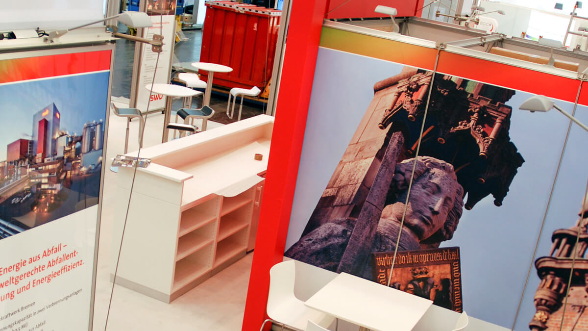 Anka Werbung - Messebau Bremen - Messebau - Tresen (swb eWorld)
