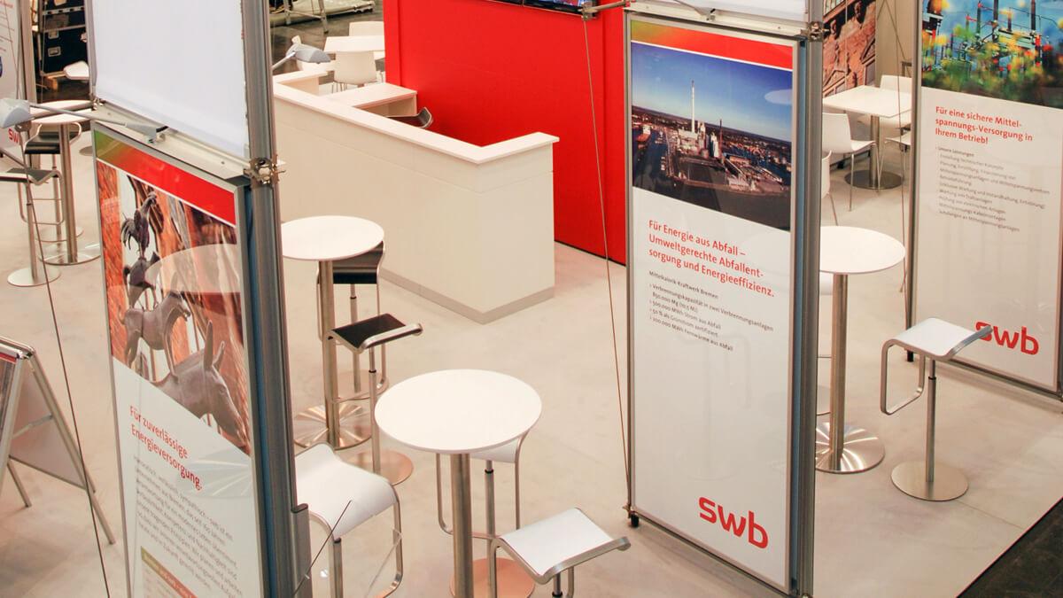 Anka Werbung - Messebau Bremen - Messebau - Displaywand (swb eWorld)