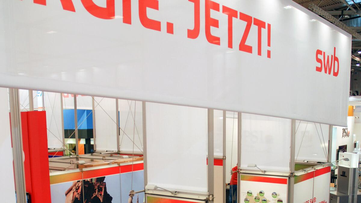 Anka Werbung - Messebau Bremen - Messebau - Blende Textil (swb eWorld)