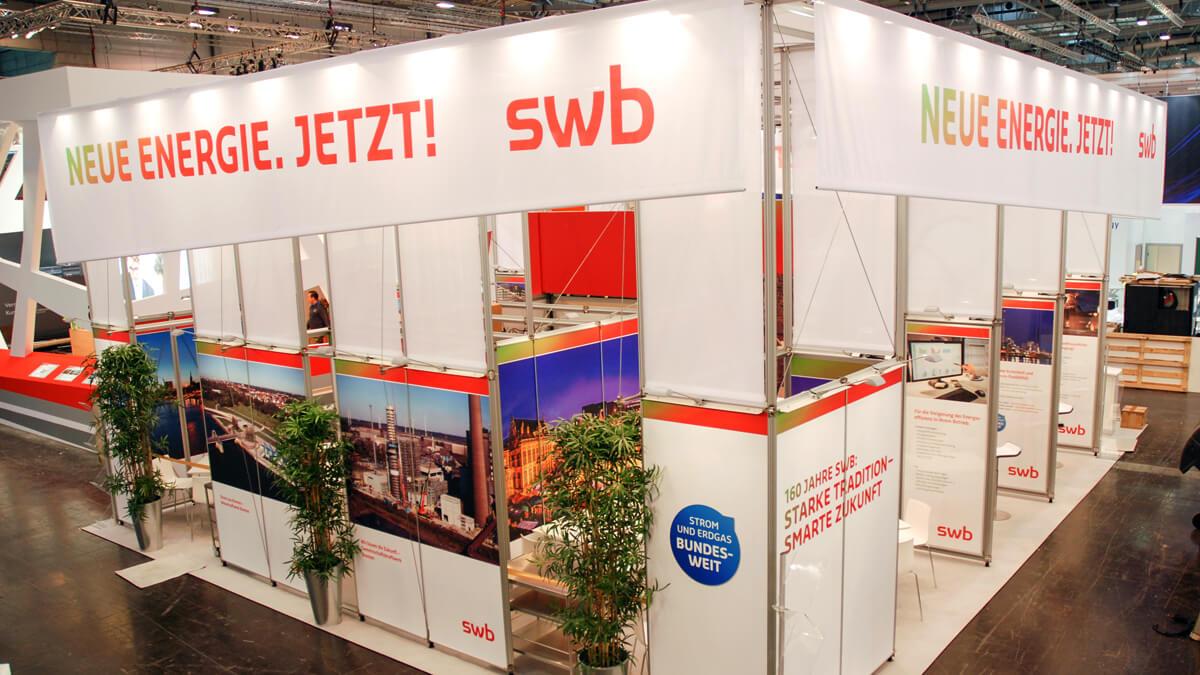 Anka Werbung - Messebau Bremen - Messebau - Individuelle Messearchitektur (swb eWorld)