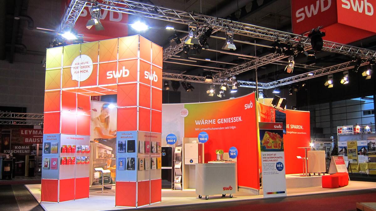 Anka Werbung - Messebau Bremen - Messebau - Messestand (swb HanseBau 2016)