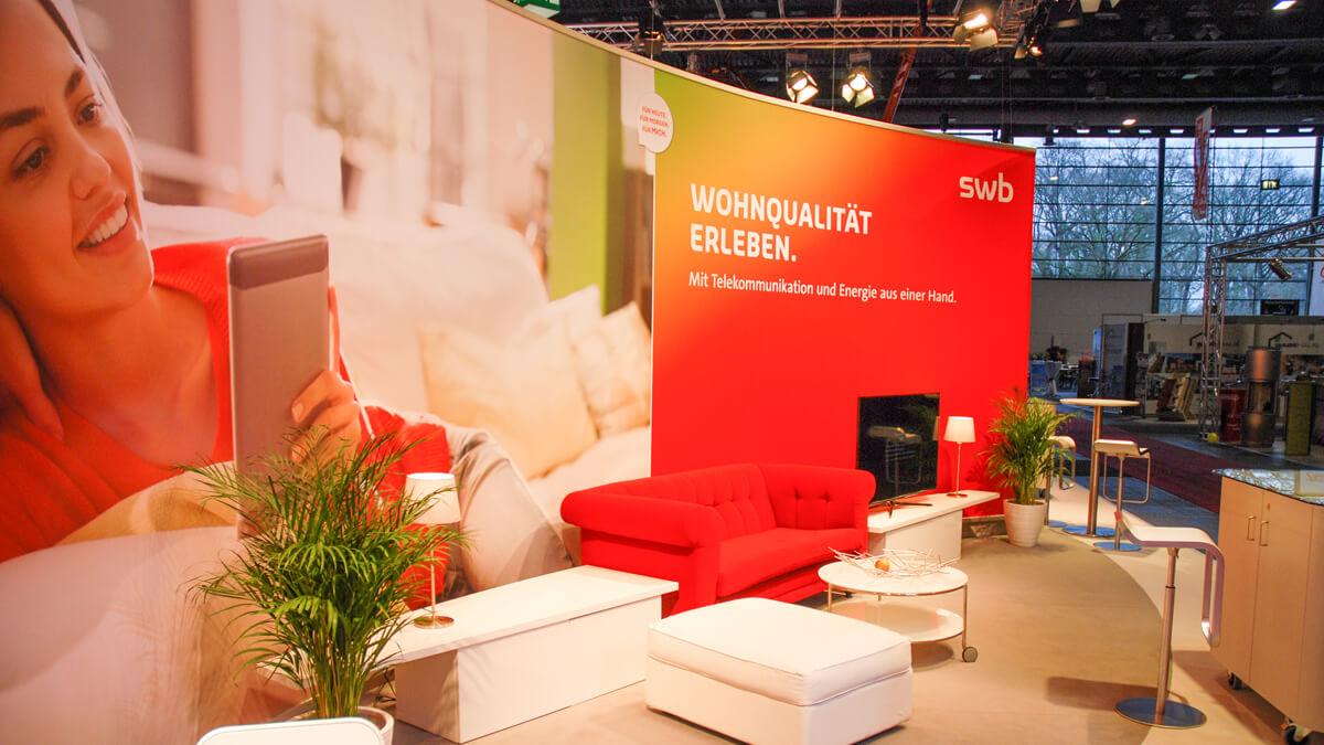 Anka Werbung - Messebau Bremen - Messebau - Individuelle Messearchitektur (swb HanseBau 2016)