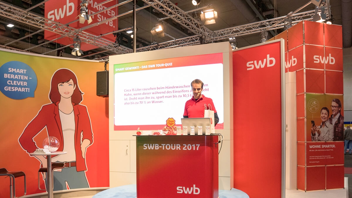 Anka Werbung - Messebau Bremen - Messebau - Präsentation (swb HanseBau 2017)