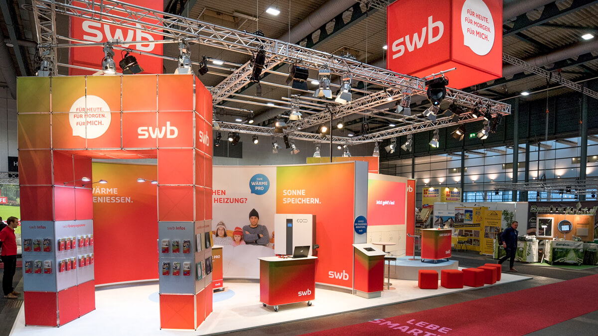 Anka Werbung - Messebau Bremen - Messebau - Individualstand (swb HanseBau 2017)