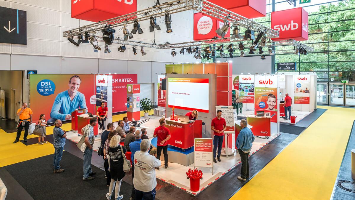 Anka Werbung - Messebau Bremen - Messebau - Messestand (swb HanseLife 2016)