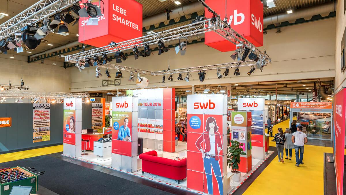 Anka Werbung - Messebau Bremen - Messebau - Individualstand (swb HanseLife 2016)