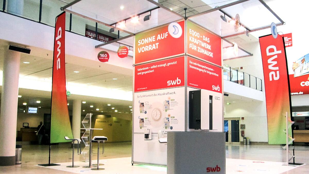 Anka Werbung - Messebau Bremen - Messebau - Individualstand (swb Tag der Technik)
