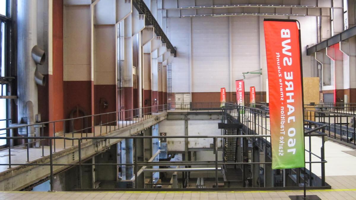 Anka Werbung - Messebau Bremen - Werbetechnik - Standfahne