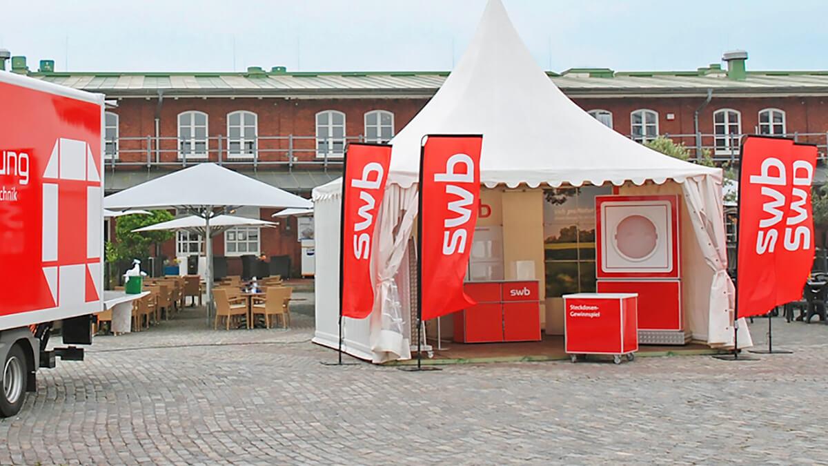 Anka Werbung - Messebau Bremen - Werbetechnik - Beachflags