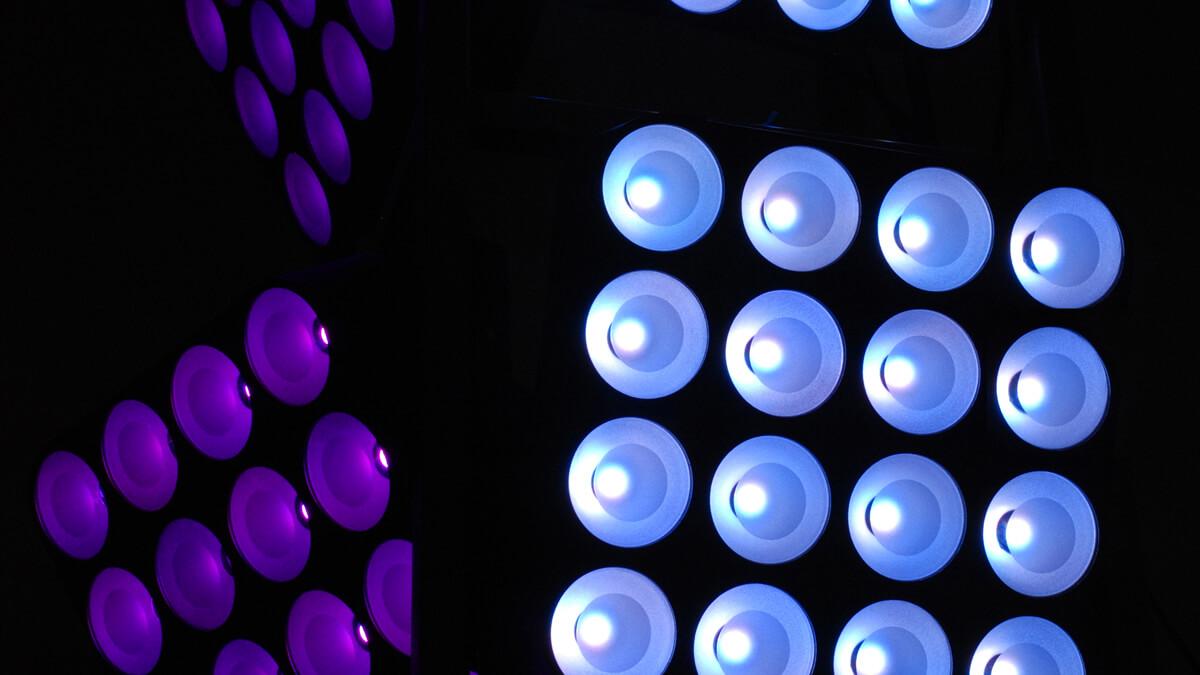 Anka Werbung - Messebau Bremen - Werbetechnik LED-Lichtanlagen - LED-Strahler Quartett