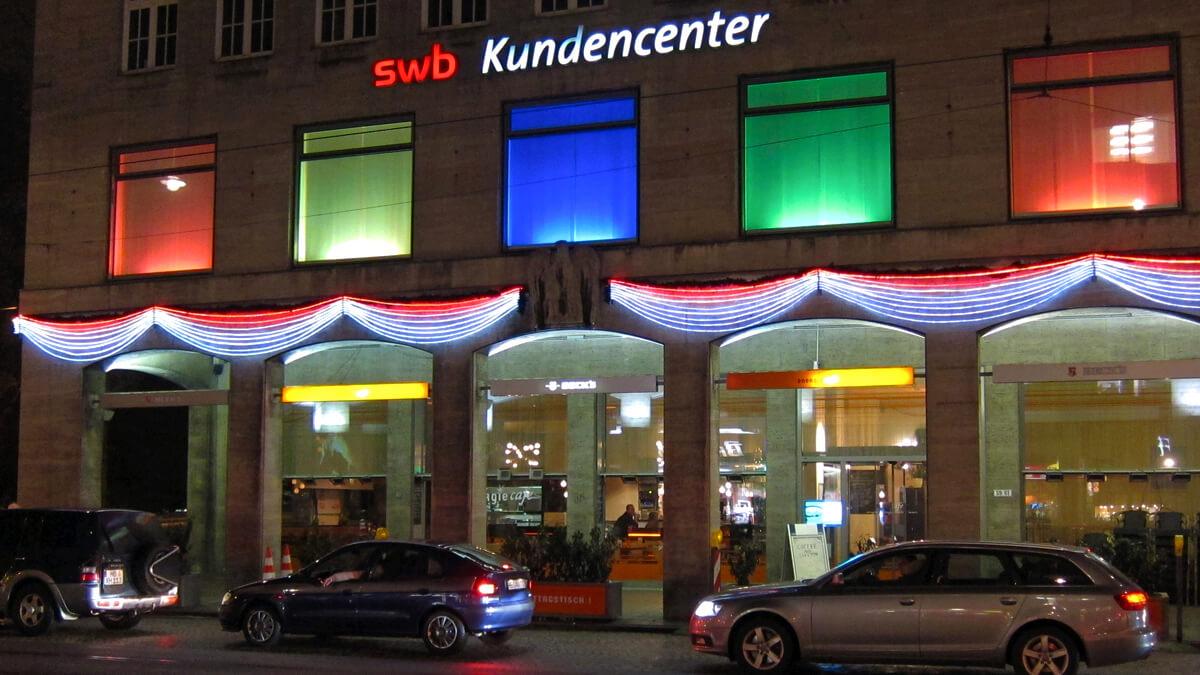 Anka Werbung - Messebau Bremen - Werbetechnik LED-Lichtanlagen - Beleuchtung Fassade