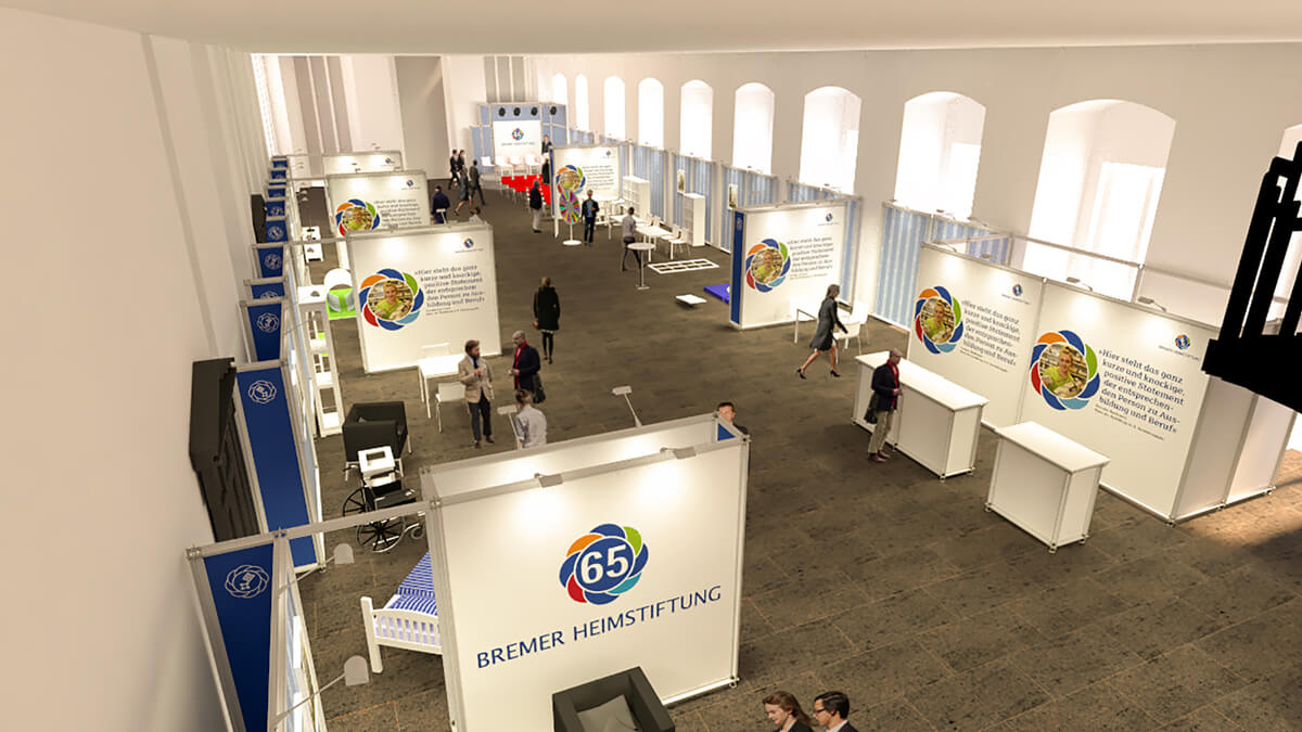 Anka Werbung - Messebau Bremen - Ausstellungen - Visualisierung (Bremer Heimstiftung - 65 Jahre)