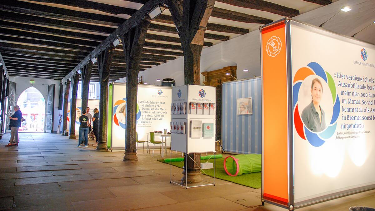 Anka Werbung - Messebau Bremen - Ausstellungen - Ausstellungsbau (Bremer Heimstiftung - 65 Jahre)