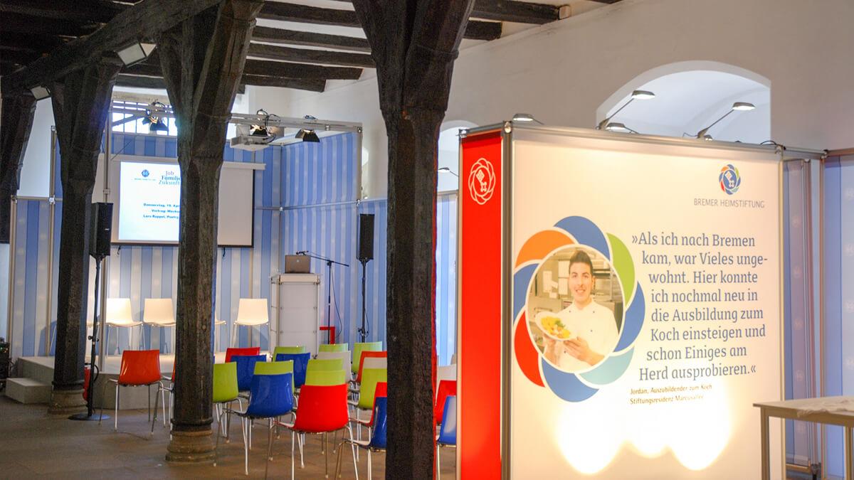 Anka Werbung - Messebau Bremen - Ausstellungen - Präsentationsecke (Bremer Heimstiftung - 65 Jahre)