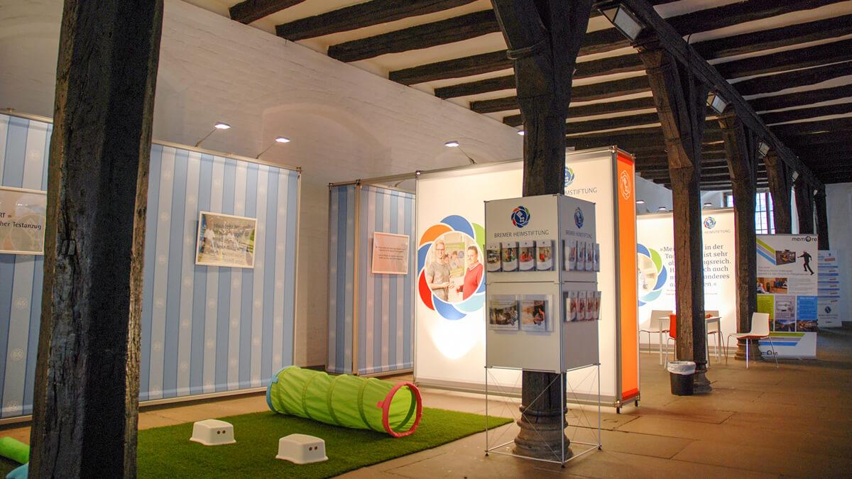 Anka Werbung - Messebau Bremen - Ausstellungen - Prospektständer (Bremer Heimstiftung - 65 Jahre)