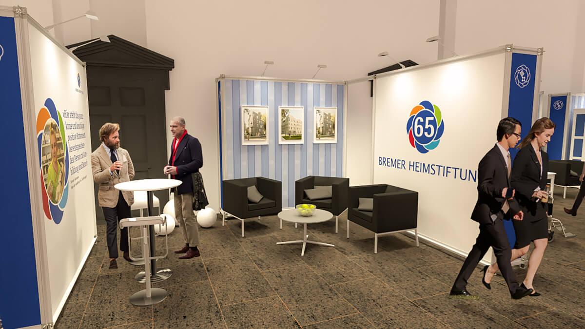 Anka Werbung - Messebau Bremen - Ausstellungen - Konzept Besprechungsbereich (Bremer Heimstiftung - 65 Jahre)
