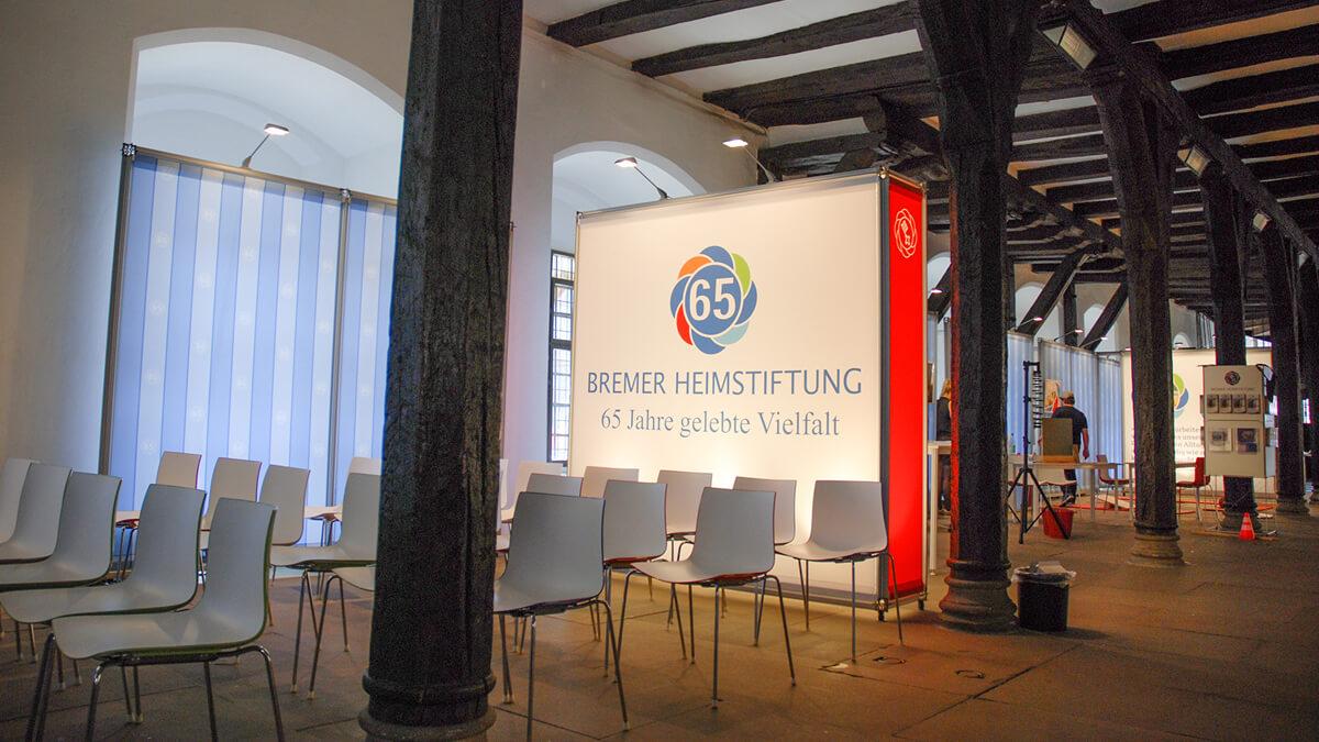 Anka Werbung - Messebau Bremen - Ausstellungen - Beleuchtungskonzept (Bremer Heimstiftung - 65 Jahre)