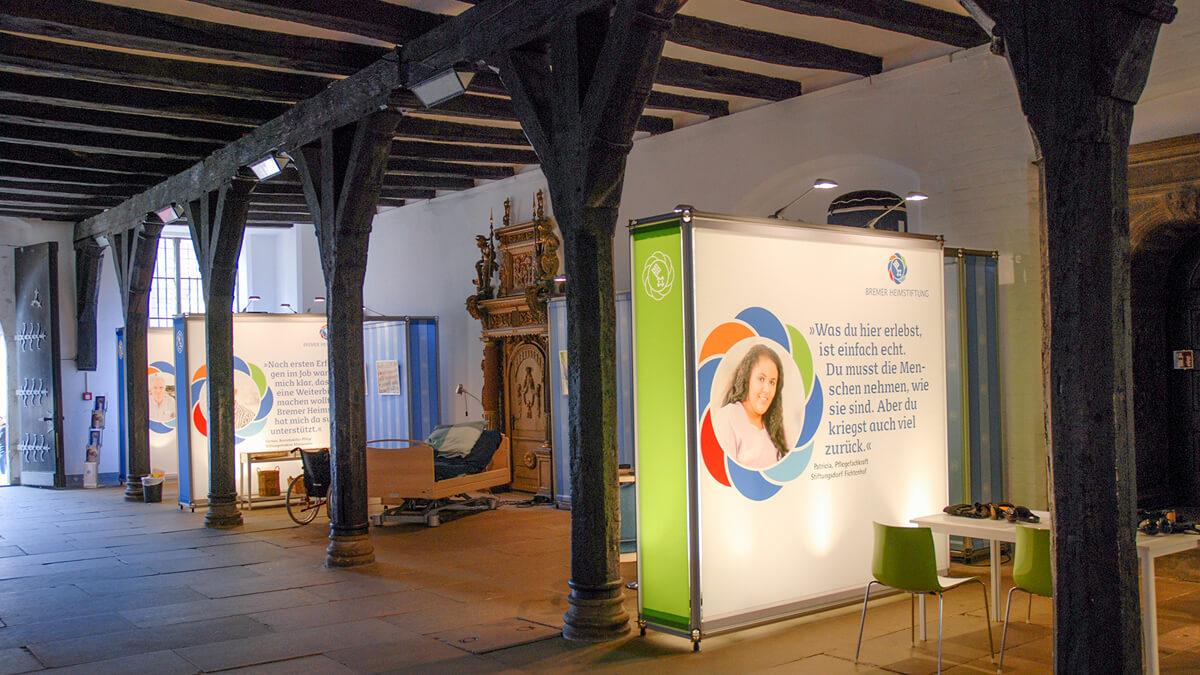 Anka Werbung - Messebau Bremen - Ausstellungen - Ausstellungssektionen (Bremer Heimstiftung - 65 Jahre)