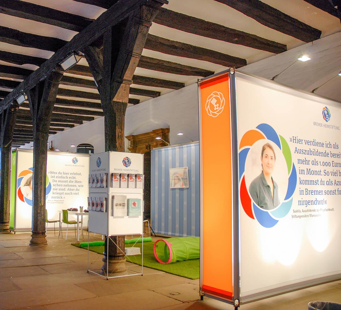 Anka Werbung - Messebau Bremen - Ausstellungen (Bremer Heimstiftung - 65 Jahre)