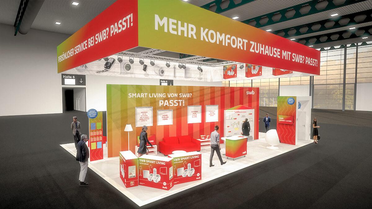 Anka Werbung - Messebau Bremen - swb HanseBau 2018 - Visualisierung