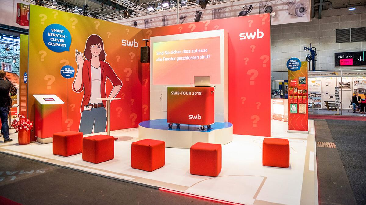 Anka Werbung - Messebau Bremen - swb HanseBau 2018 - Präsentationsarea