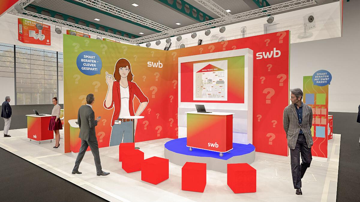 Anka Werbung - Messebau Bremen - swb HanseBau 2018 - Produktpräsentation Visualisierung