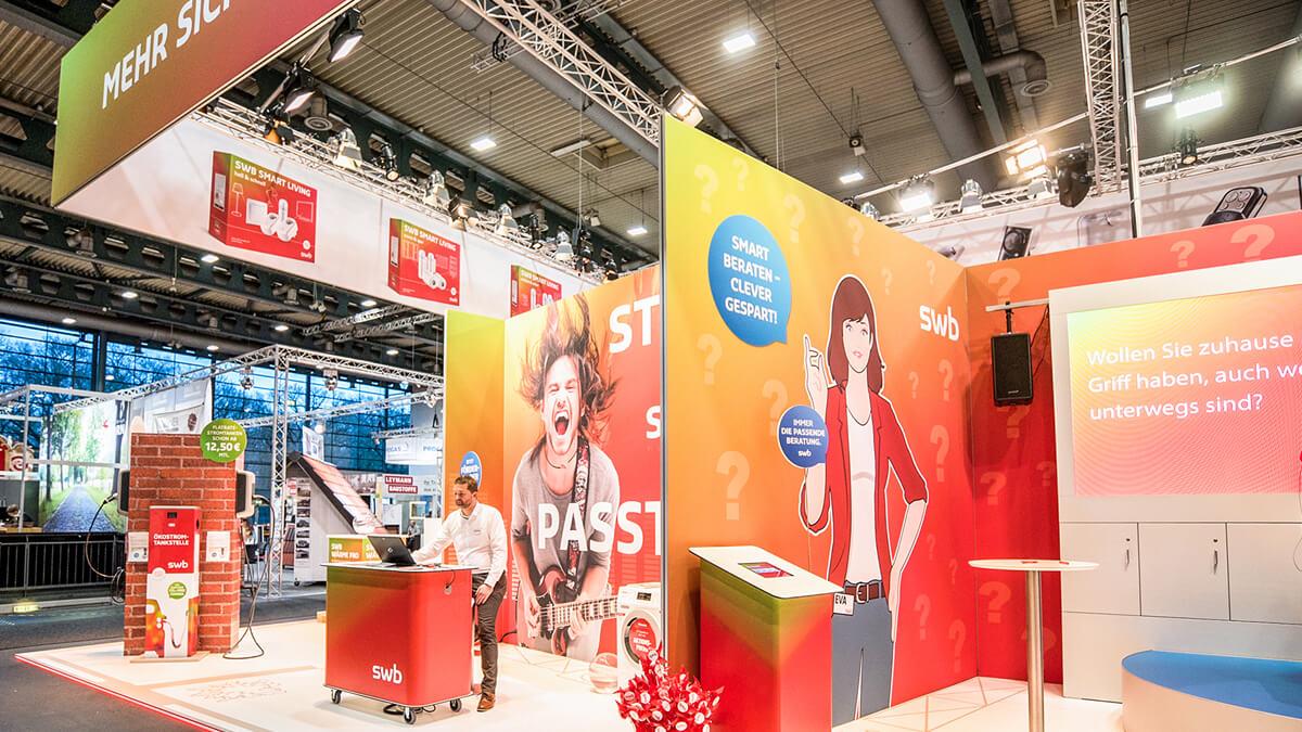 Anka Werbung - Messebau Bremen - swb Hansebau 2018 - Messestand