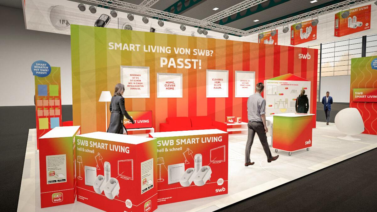 Anka Werbung - Messebau Bremen - swb Hansebau 2018 - Konzeption