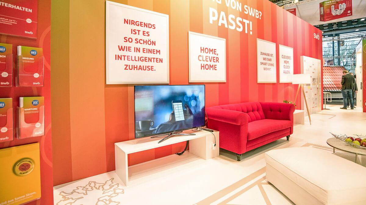 Anka Werbung - Messebau Bremen - swb Hansebau 2018 - Ausstattung
